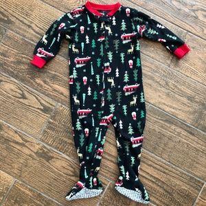 Carter's Fleece Footed Pajama Sleeper Christmas